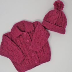 Raspberry Jacket and Hat